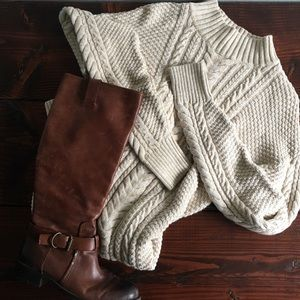 Oatmeal Ribbed Sweater Dress